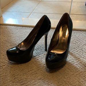 Patent Black Steve Madden Platform Heels